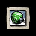 Green Festive Bauble