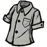 Silver Gray Buttoned Shirt Icon