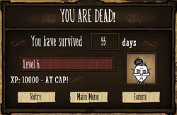 You are dead screen