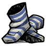 Lightning Goat Blue Swim Socks Icon