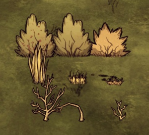 Collectable plants (Berry Bush, Grass, Sapling)