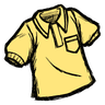 Downright Neighborly Yellow Collared Shirt Icon