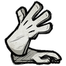 Pure White Long Gloves Icon