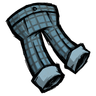 Rubber Glove Blue Checkered Trousers Icon