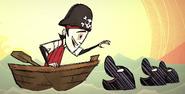 在船难DLC宣传片中的三只瓶鼻海豚