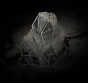 Luciernagas dentro de un mini glaciar