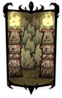 Pig Fire Columns Portrait Background