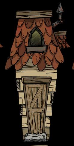 歪斜的小木屋