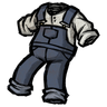 Hyper-Intelligent Blue Overalls Icon