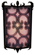 Wrought Iron Portrait Background