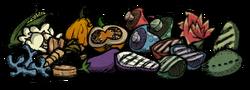 Vegetales de la olla de barro (sin mandrágora)