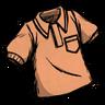 Fishy Tincture Orange Collared Shirt Icon