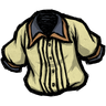Follicle Yellow Pleated Shirt Icon