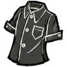 Disilluminated Black Buttoned Shirt Icon