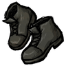 Disilluminated Black Ankle Boots Icon