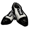 Scribble Black Spectator Shoes Icon