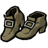 Muddy Shoes Tan Buckled Shoes Icon