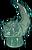 Statue Hornucopia Moonglass