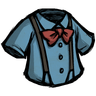 Rubber Glove Blue Suspension Shirt Icon