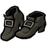 Disilluminated Black Buckled Shoes Icon
