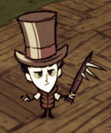 Wilson wearing a Top Hat and a Breezy Vest