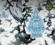 Deerclops and frozen Treeguard