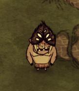 Pig wearing spiderhat