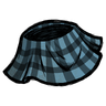 Rubber Glove Blue Plaid Skirt Icon