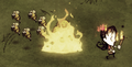 Bees leaving their Bee Hive as it is set on fire.png