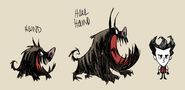 Hound and Howl Hound concept art