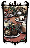 Winter's Feast Foods Portrait Background