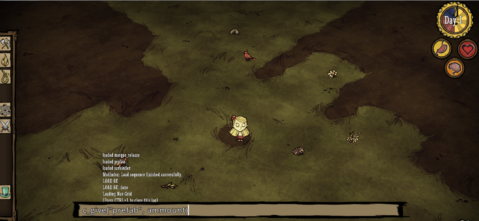 Don t starve cheat codes