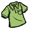 Science Experiment Green Collared Shirt Icon