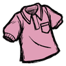 Pigman Pink Collared Shirt Icon