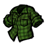 Being Uneasy Green Lumberjack Shirt Icon