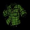 Being Uneasy Green Lumberjack Shirt Icon