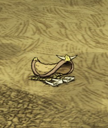 Saddle on ground
