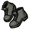 Stormcloud Gray Ankle Boots Icon