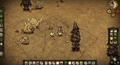 Don't Starve Miner's Camp with 3 Treeguards.PNG