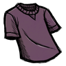 Snail Mucus Purple T-Shirt Icon
