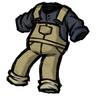 Dry Grass Tan Overalls Icon