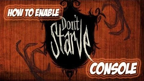 How to enable Don't Starve Console on steam!