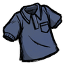 Hyper-Intelligent Blue Collared Shirt Icon