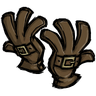 Werebeaver Brown Buckled Gloves Icon