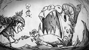 Toadstool Fight Drawing