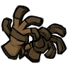 Insufficient Chocolate Brown Unprotective Gloves Icon