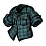Electrolytic Blue Lumberjack Shirt Icon