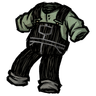 Scribble Black Overalls Icon