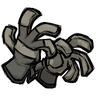 Silver Gray Unprotective Gloves Icon