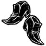 Scribble Black Low Heels Icon
